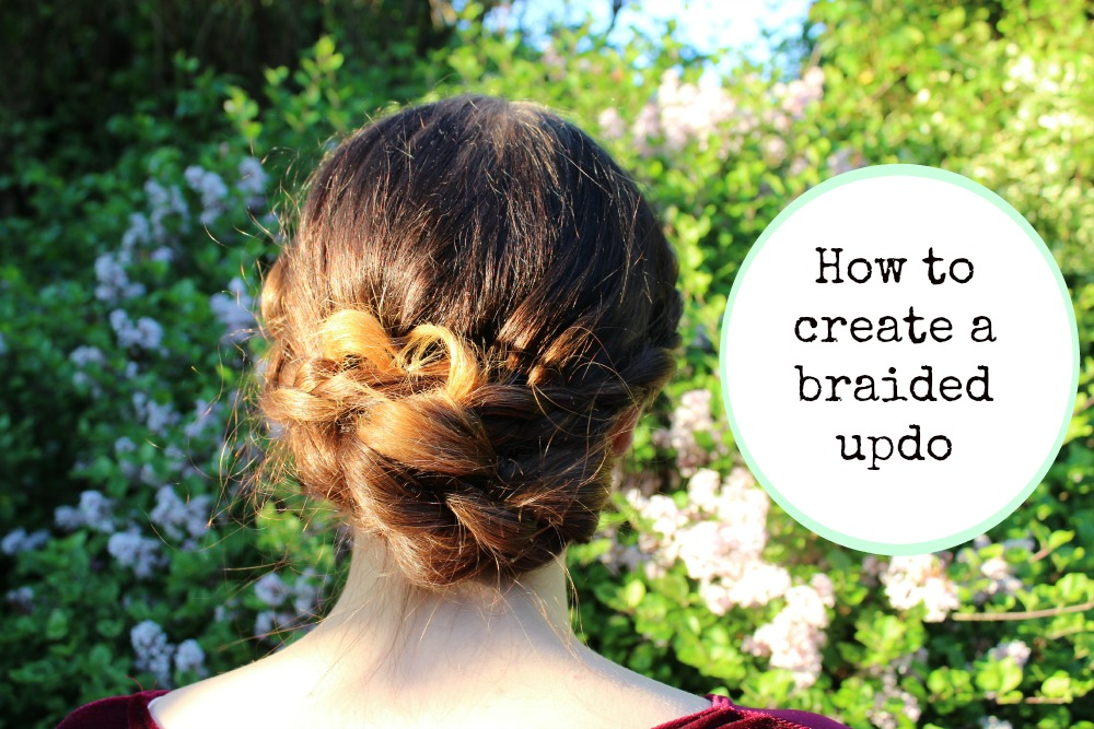 how to create a braided updo
